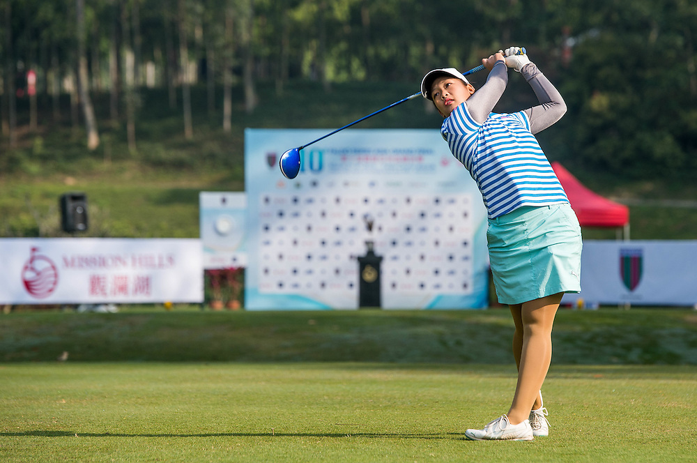Nguyen Thao My of Vietnam in action during day one of the 10th Faldo Series Asia Grand Final at Faldo course in Shenzhen, China. Photo by Xaume Olleros.