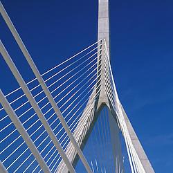 Leonard P. Zakim Bunker Hill Bridge, the widest cable-stayed bridge in the world, Boston, MA