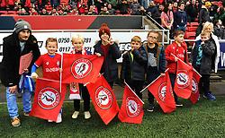 Flag Bearers - Mandatory by-line: Nizaam Jones/JMP - 23/11/2019 - FOOTBALL - Ashton Gate - Bristol, England - Bristol City v Nottingham Forest - Sky Bet Championship