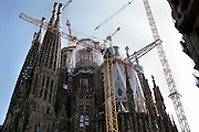 Sagrada Familia Barcelona Spain during final construction