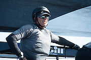 Emirates Team New Zealand trimmer, James Dagg, day two of the Cardiff Extreme Sailing Series Regatta. 23/8/2014