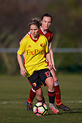 LIVERPOOL, ENGLAND - Sunday, February 4, 2018: Watford's Simona Petkova during the Women's FA Cup 4th Round match between Liverpool FC Ladies and Watford FC Ladies at Walton Hall Park. (Pic by David Rawcliffe/Propaganda)