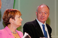 Tessa Jowell MP, Secretary of State for Culture, Media and Sport, looks on as Ken Livingstone, Mayor of London, speaks at the TUC 2005 ...© Martin Jenkinson, tel 0114 258 6808 mobile 07831 189363 email martin@pressphotos.co.uk. Copyright Designs & Patents Act 1988, moral rights asserted credit required. No part of this photo to be stored, reproduced, manipulated or transmitted to third parties by any means without prior written permission