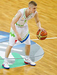 Luka Rupnik of Slovenia during basketball match between National team of Slovenia and Italy in First Round of U20 Men European Championship Slovenia 2012, on July 12, 2012 in Domzale, Slovenia.  Slovenia defeated Italy 81-68. (Photo by Vid Ponikvar / Sportida.com)