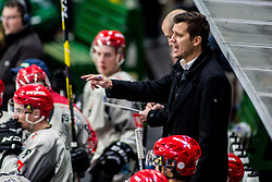 Marcel Rodman, head coach of HDD Jesenice during Ice Hockey match between HK SZ Olimpija Ljubljana and HDD Jesenice in Round #24 of Alps Hockey League, on December 22, 2018 in Hala Tivoli, Ljubljana, Slovenia. Photo by Ziga Zupan / Sportida