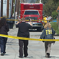 The FBI and the Santa Monica Police and Fire Departments respond to what they thought may have been a hate crime (pipe bomb explosion) behind the Chabad House of Santa Monica (an orthodox Jewish synagogue) on Thursday, April 7, 2011...The explosion that took place this morning in the 1400 block of 17th Street was due to an industrial  accident, not a pipe bomb according to sources at the scene. ..No one was injured.