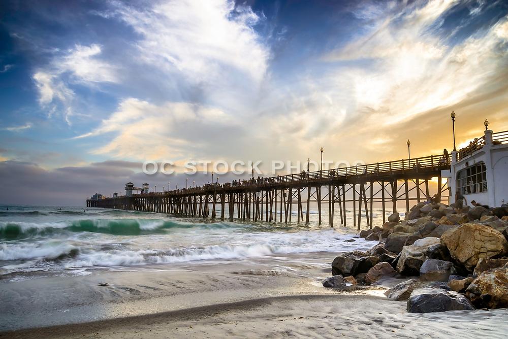 Sundown At The Oceanside Pier