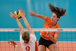 29-12-2013 VOLLEYBAL: DELA TROPHY NEDERLAND - BELGIE: DEN BOSCH <br /> Nederland verliest de eerste wedstrijd met 3-2 van Belgie / Robin de Kruijf<br /> ©2013-FotoHoogendoorn.nl