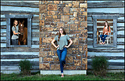 On location, non studio, single, family, senior portrait photographer in Kansas City