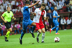 June 10, 2019 - Warsaw, Poland - Mateusz Klich of Poland vies Dor Peretz (ISR) during the UEFA Euro 2020 qualifier Group G football match Poland against Israel on June 10, 2019 in Warsaw, Poland. (Credit Image: © Foto Olimpik/NurPhoto via ZUMA Press)