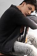 Natural light editorial fashion photo of Houston male model Jonah Manzi by Gerard Harrison Image Theory Photoworks