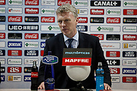 Real Sociedad´s coach David William Moyes during a press conference after 2014-15 La Liga match at Alfonso Perez Coliseum stadium in Madrid, Spain. March 16, 2015. (ALTERPHOTOS/Victor Blanco)