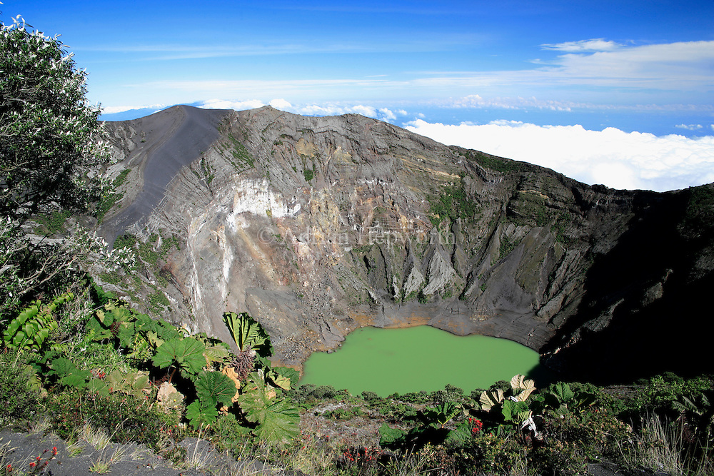 Active crater of Irazu Volcano, Costa Rica.<br />
