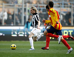 ITALY, Lecce : Krazic J.during the Serie A match between Lecce and Juventus at Stadio Via del Mare in Lecce on February 20, 2011. .AFP PHOTO / GIOVANNI MARINO