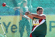 PORT ELIZABETH, SOUTH AFRICA, Friday 13 April 2012, Ronique Wepener in the women's hammer throw during the Yellow Pages South African Senior and Combined Events Championships held at the Xerox Nelson Mandela Metropolitan University, Nelson Mandela Bay..Photo by Roger Sedres/Image SA/ASA