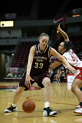 13 January 2007: Ashleen Bracey defends Breton Wyett. The Missouri State Bears lost to the Redbirds of Illinois State University at Redbird Arena in Normal Illinois by a score of 76-47.<br />