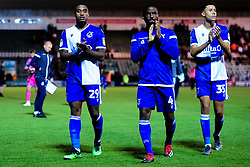 Victor Adeboyejo of Bristol Rovers, Abu Ogogo of Bristol Rovers and Luca Hoole  - Mandatory by-line: Ryan Hiscott/JMP - 03/09/2019 - FOOTBALL - Home Park - Plymouth, England - Plymouth Argyle v Bristol Rovers - Leasing.com Trophy