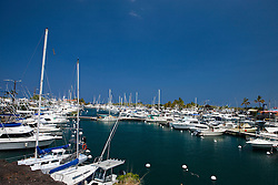 Marina with boats, near Kona, The Big Island, Hawaii, United States of America