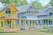Gingerbread Cottages at Oak Bluffs Martha's Vineyard.