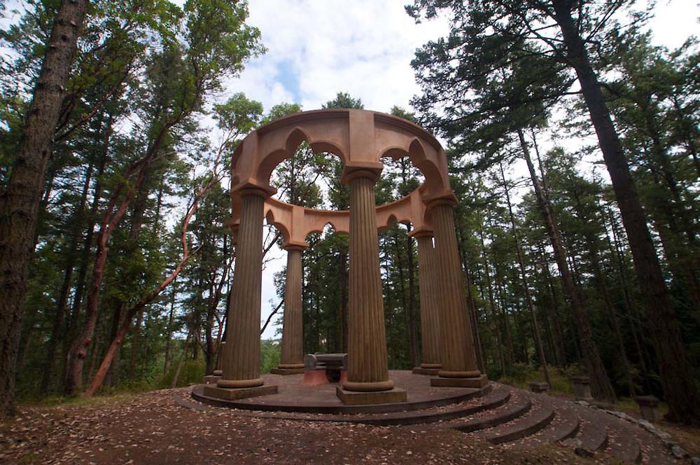 Alpenglow Vista Mausoleum at Roche Harbor, San Juan Island, Washington, US