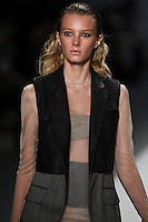 Sigrid Agren walks the runway wearing Richard Chai Spring 2011 Collection during Mercedes Benz Fashion Week in New York on September 9, 2010