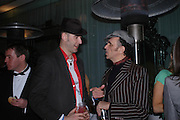"Phil Dirtbox and Kevin Rowland. Official Pre-Brit Awards 2005 Pool Tournament"" at The Sanderson Hotel February 8, 2005 in London. The party is hosted by Esquire Magazine ONE TIME USE ONLY - DO NOT ARCHIVE  © Copyright Photograph by Dafydd Jones 66 Stockwell Park Rd. London SW9 0DA Tel 020 7733 0108 www.dafjones.com"