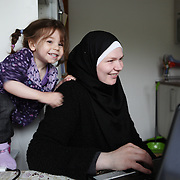 Arhus, Denmark, May 4, 2010.Charlotte, danish, converted to islam.