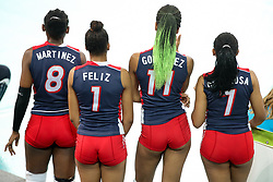 Players of Dominican Republic during the volleyball match between National team of Slovenia and Dominican Republic in Preliminary Round of Womens U23 World Championship 2017, on September 4, 2017 in SRC Stozice, Ljubljana, Slovenia. Photo by Morgan Kristan / Sportida