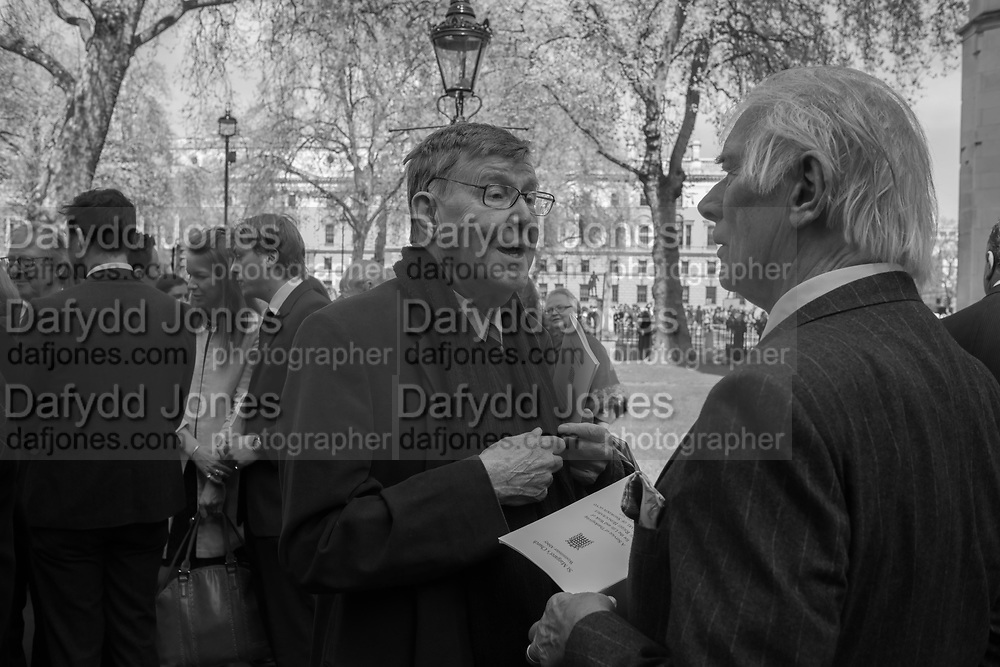 ALAN BENNET, Service of thanksgiving for  Lord Snowdon, St. Margaret's Westminster. London. 7 April 2017