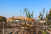 Cranes at the shipyard Gdansk, Poland