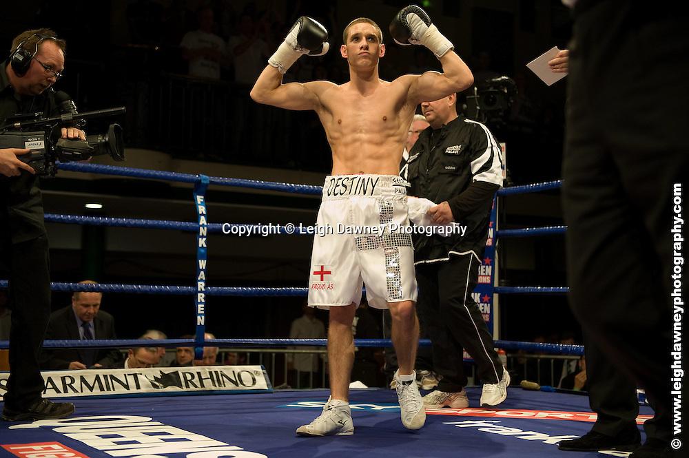 Liam Walsh defeats Jon Baguley at York Hall, Bethnal Green 9th ocotber 2009. Frank Warren Promotions.Credit: ©Leigh Dawney Photography
