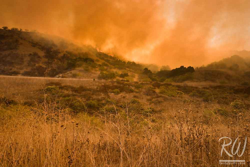 Brea Canyon Firestorm Along 57 Freeway, Diamond Bar, Southern California