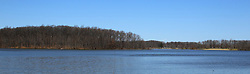 04 April 2015:   Spring at Dawson Lake located in Moraine View State Park maintained by the Illinois Department of Natural Resources (IDNR) near Le Roy Illinois before the trees leaf out.<br /> <br /> This image was produced in part utilizing High Dynamic Range (HDR) processes or panoramic processes or cropping.  It should not be used editorially without being listed as an illustration or with a disclaimer.  It may or may not be an accurate representation of the scene as originally photographed and the finished image is the creation of the photographer.