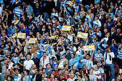 Argentina supporters celebrate a try - Mandatory byline: Rogan Thomson/JMP - 07966 386802 - 25/09/2015 - RUGBY UNION - Kingsholm Stadium - Gloucester, England - Argentina v Georgia - Rugby World Cup 2015 Pool C.
