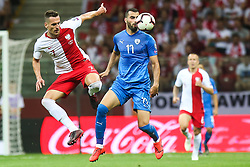 June 10, 2019 - Warsaw, Poland - Poland's forward Arkadiusz Milik vies Loai Taha (ISR) during the UEFA Euro 2020 qualifier Group G football match Poland against Israel on June 10, 2019 in Warsaw, Poland. (Credit Image: © Foto Olimpik/NurPhoto via ZUMA Press)