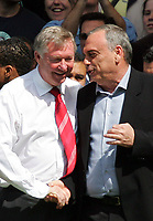 Chelsea FC vs Manchester United FC Premier League 26/04/08<br /> Photo Nicky Hayes/Fotosports International<br /> Alex Ferguson and Avram Grant