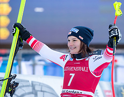 18.12.2018, Saslong, St. Christina, ITA, FIS Weltcup Ski Alpin, Abfahrt, Damen, Siegerehrung, im Bild Ramona Siebenhofer (AUT, 3. Platz) // third placed Ramona Siebenhofer of Austria during the winner Ceremony for the ladie's Downhill of FIS Ski Alpine World Cup at the Saslong in St. Christina, Italy on 2018/12/18. EXPA Pictures © 2018, PhotoCredit: EXPA/ Johann Groder