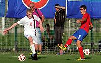 Fotball<br /> Landskamp G15<br /> Stara Pazova - Serbia<br /> Serbia v Norge<br /> 03.10.2012<br /> Foto: Aleksandar Djorovic<br /> NORWAY ONLY<br /> <br /> Henrik Rørvik Bjørdal  - Aalesunds FK  <br /> Marko Mijailovic - Serbia