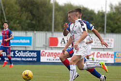 Falkirk's John Baird scoring their third goal. Falkirk 6 v 1 Elgin City, Irn-Bru Challenge Cup Third Round, played 3/9/2016 at The Falkirk Stadium .