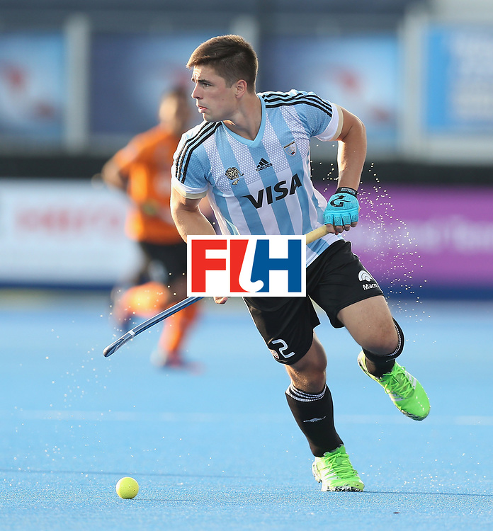 LONDON, ENGLAND - JUNE 16: Gonzalo Peillat of Argentina uring the Hero Hockey World League semi final match between Argentina and Malaysia at Lee Valley Hockey and Tennis Centre on June 16, 2017 in London, England.  (Photo by Alex Morton/Getty Images)