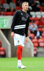 Matt Bower of Cheltenham Town - Mandatory by-line: Nizaam Jones/JMP- 28/07/2018 - FOOTBALL - Jonny-Rocks Stadium - Cheltenham, England - Cheltenham Town v Walsall - Pre-season friendly