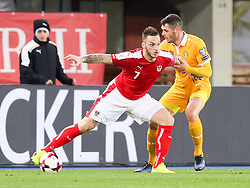 24.03.2017, Ernst Happel Stadion, Wien, AUT, FIFA WM 2018 Qualifikation, Oesterreich vs Moldawien, Gruppe D, im Bild Marko Arnautovic (AUT), Vadim Bolohan (MDA) // during the FIFA World Cup 2018, group D qualifying match between Austria and Moldova at the Ernst Happel Stadion in Wien, Austria on 2017/03/24. EXPA Pictures © 2017, PhotoCredit: EXPA/ Alexander Forst