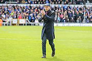 Exeter City manager Paul Tisdale during the Sky Bet League 2 match between Bristol Rovers and Exeter City at the Memorial Stadium, Bristol, England on 23 April 2016. Photo by Shane Healey.