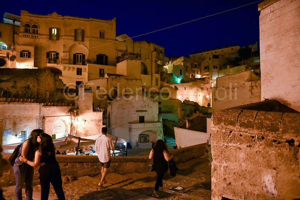 Evening In the Sasso Barisano area, the name comes from its proximity to the city of Bari