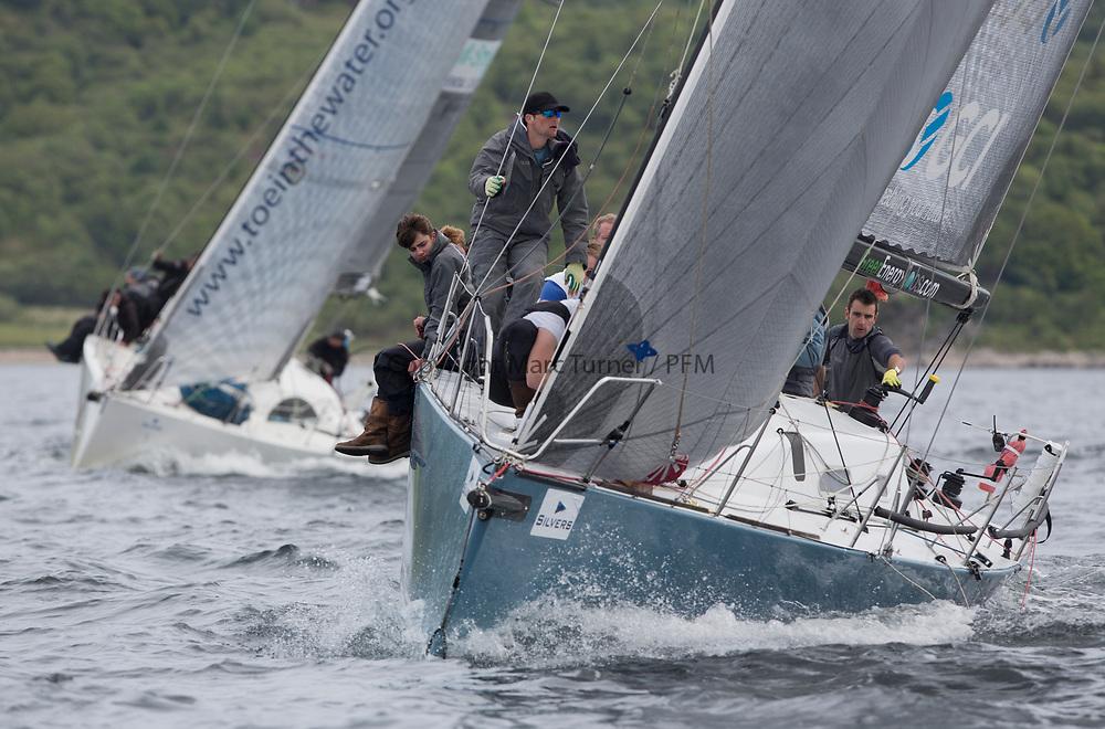 Silvers Marine Scottish Series 2017<br /> Tarbert Loch Fyne - Sailing Day 3<br /> <br /> GBR7737R, Aurora, Rod Stuart / A Ram, CCC, Corby 37