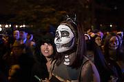 New York, NY - October 31, 2015. La Calavera Catarina.