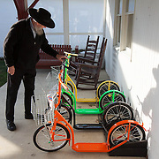 David Fielder shops for scooters in Pennsylvania, home to a large Amish community.