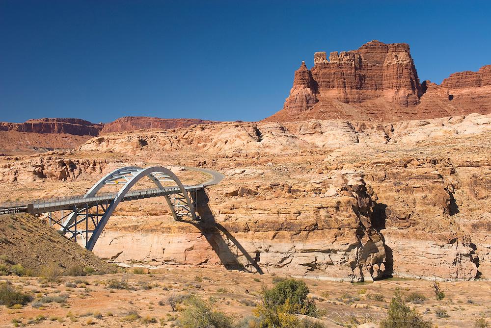 Hite Crossing Bridge (Utah State Route 95) spanning the Colorado River, Glen Canyon National Recreation Area Utah