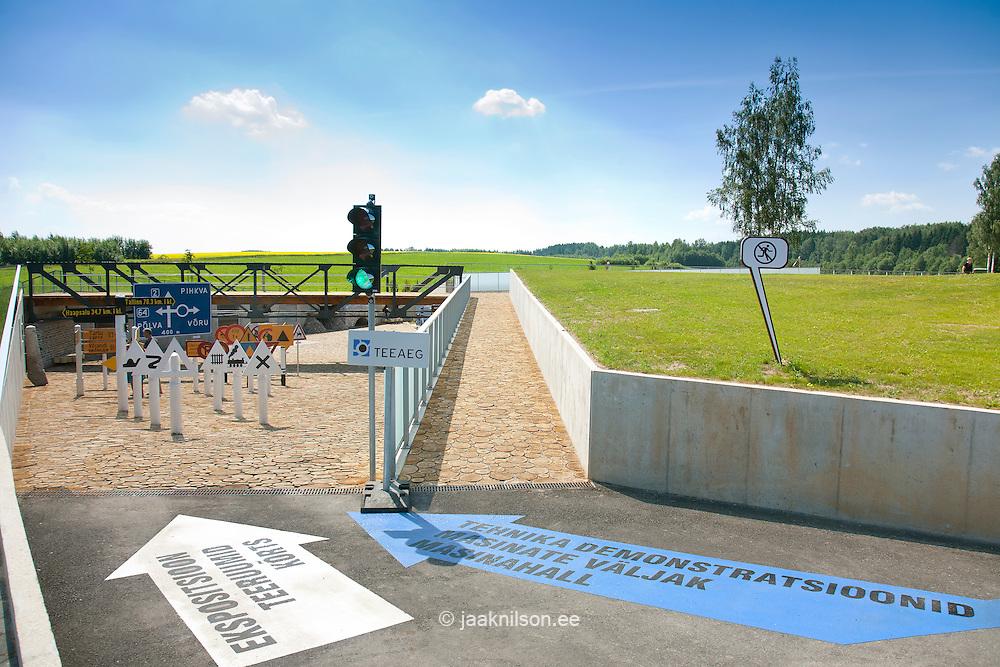 Road Signs, Estonian Road Museum, Saverna, Põlva County, Estonia