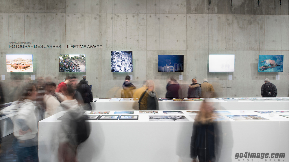 Zurich 8.1.2017 Maaghalle, Photo 17 exhibition, with photos printed and presented by Galvolux